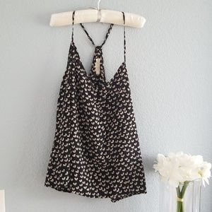 By Eloise ...Black with white Hearts Tank top